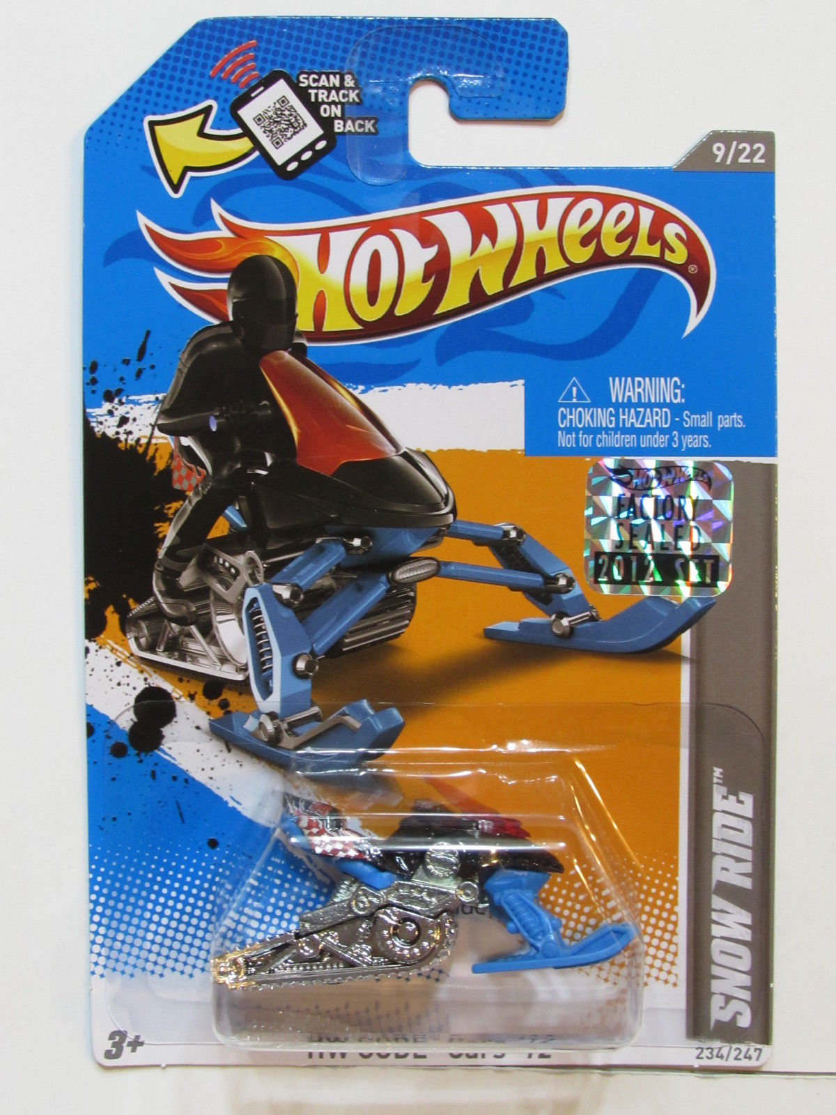 HOT WHEELS 2012 HW CODE CARS SNOW RIDE FACTORY SEALED E+