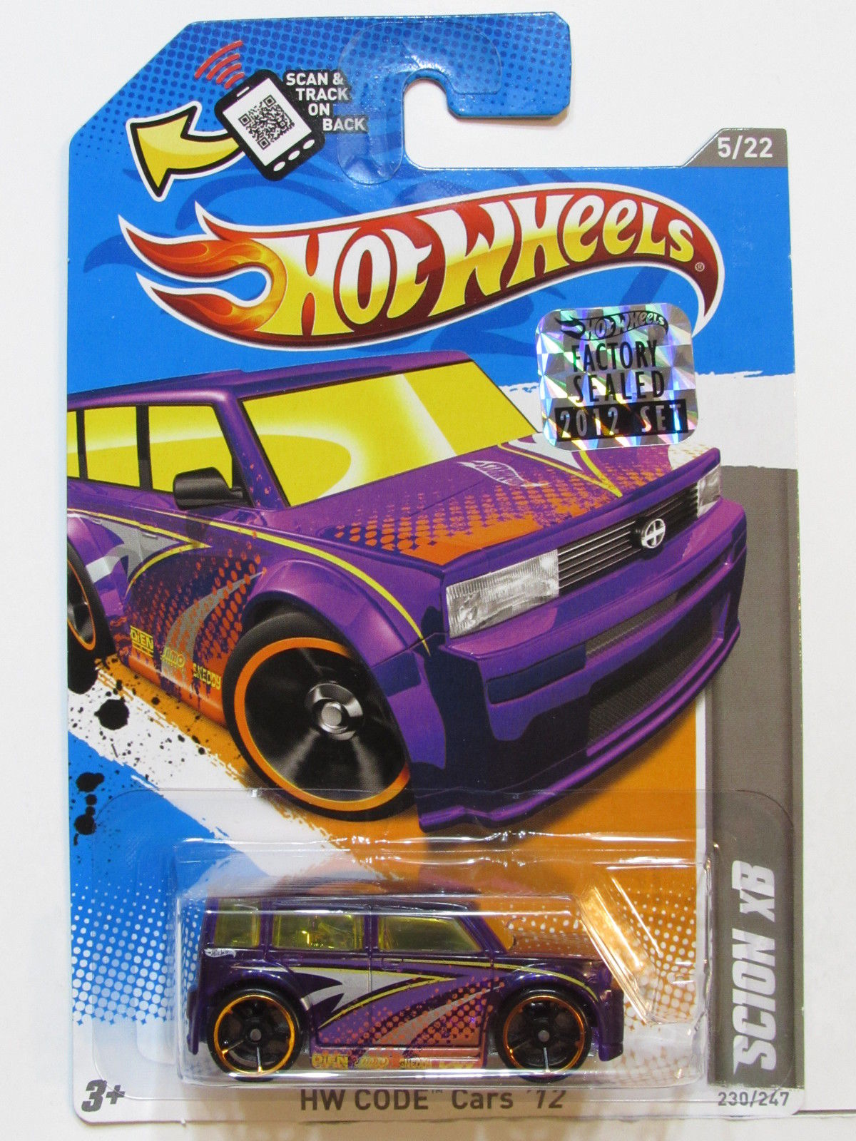 HOT WHEELS 2012 HW CODE CARS SCION XB FACTORY SEALED