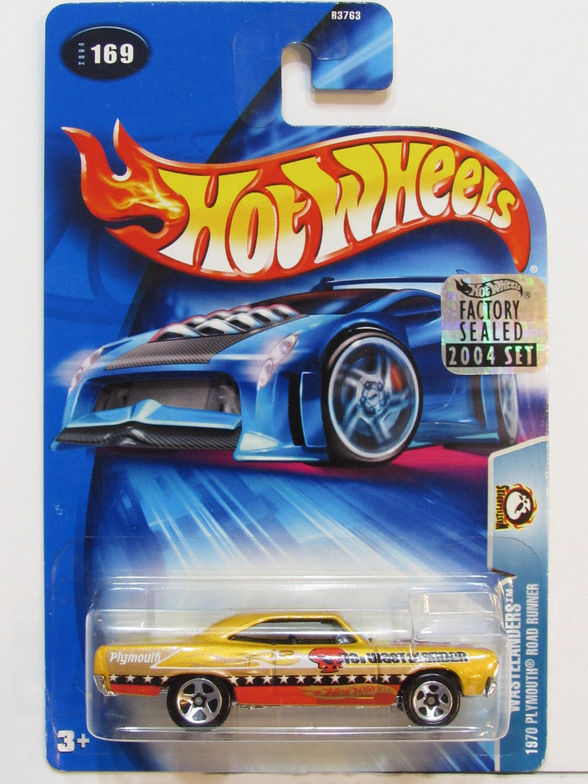 HOT WHEELS 2004 WASTELANDERS 1970 PLYMOUTH ROAD RUNNER FACTORY SEALED E+