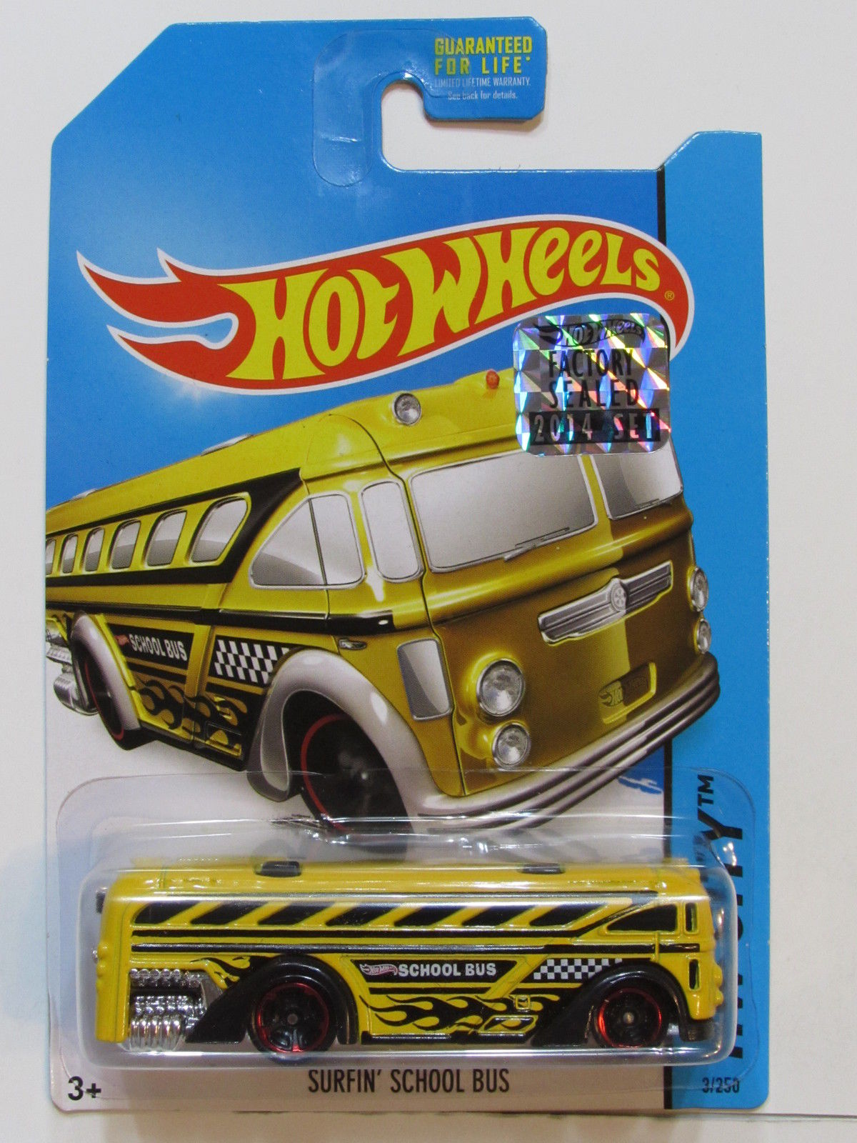 HOT WHEELS 2014 HW CITY SURFIN SCHOOL BUS FACTORY SEALED YELLOW