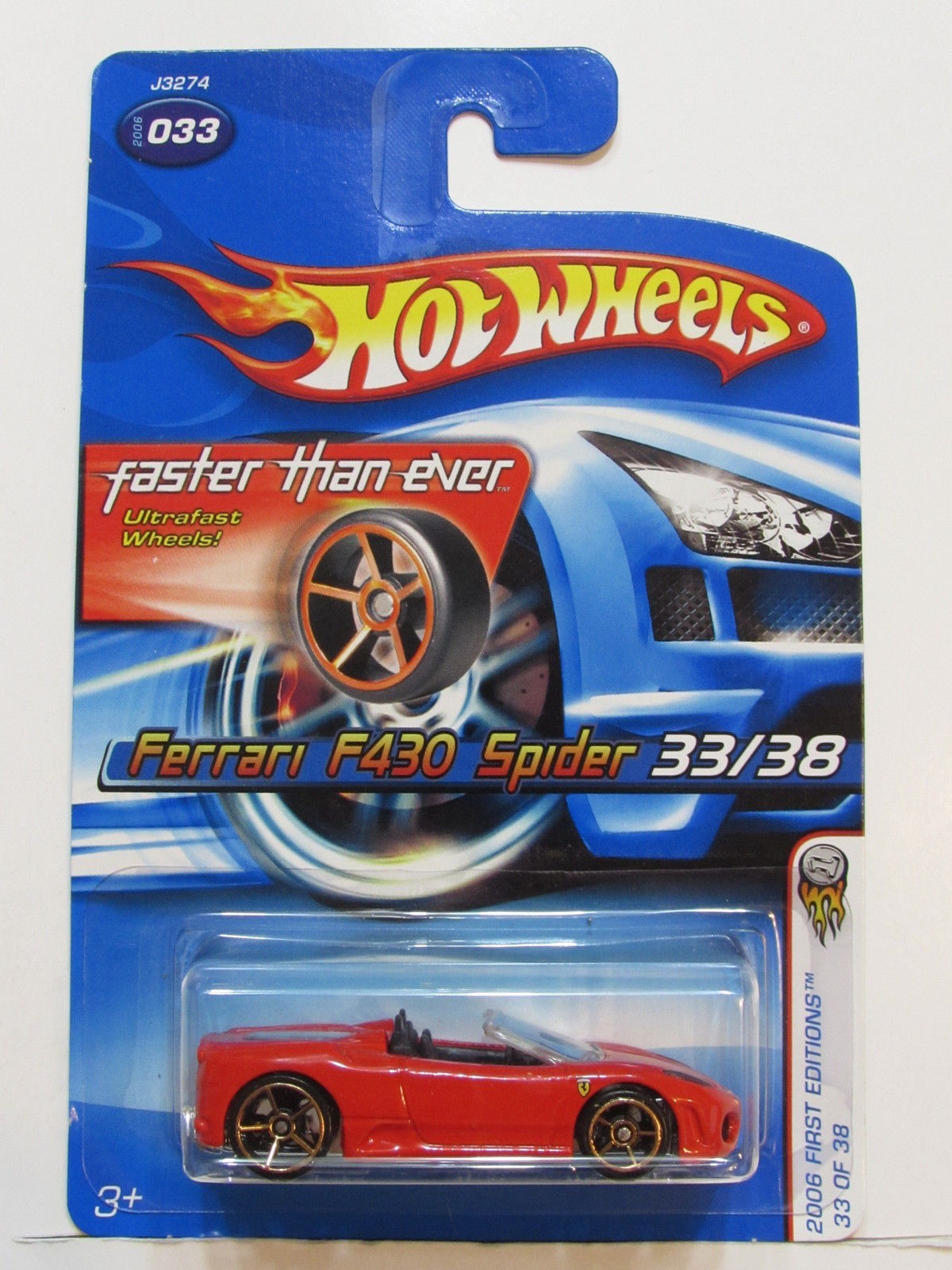 HOT WHEELS 2006 FIRST EDITIONS FTE FERRARI F430 SPIDER #033 RED