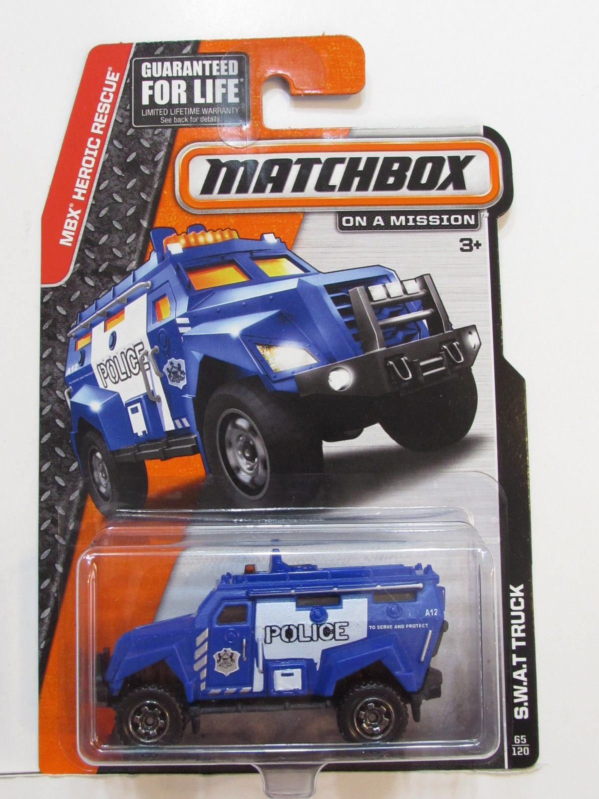 MATCHBOX 2013 ON A MISSION S.W.A.T TRUCK E+