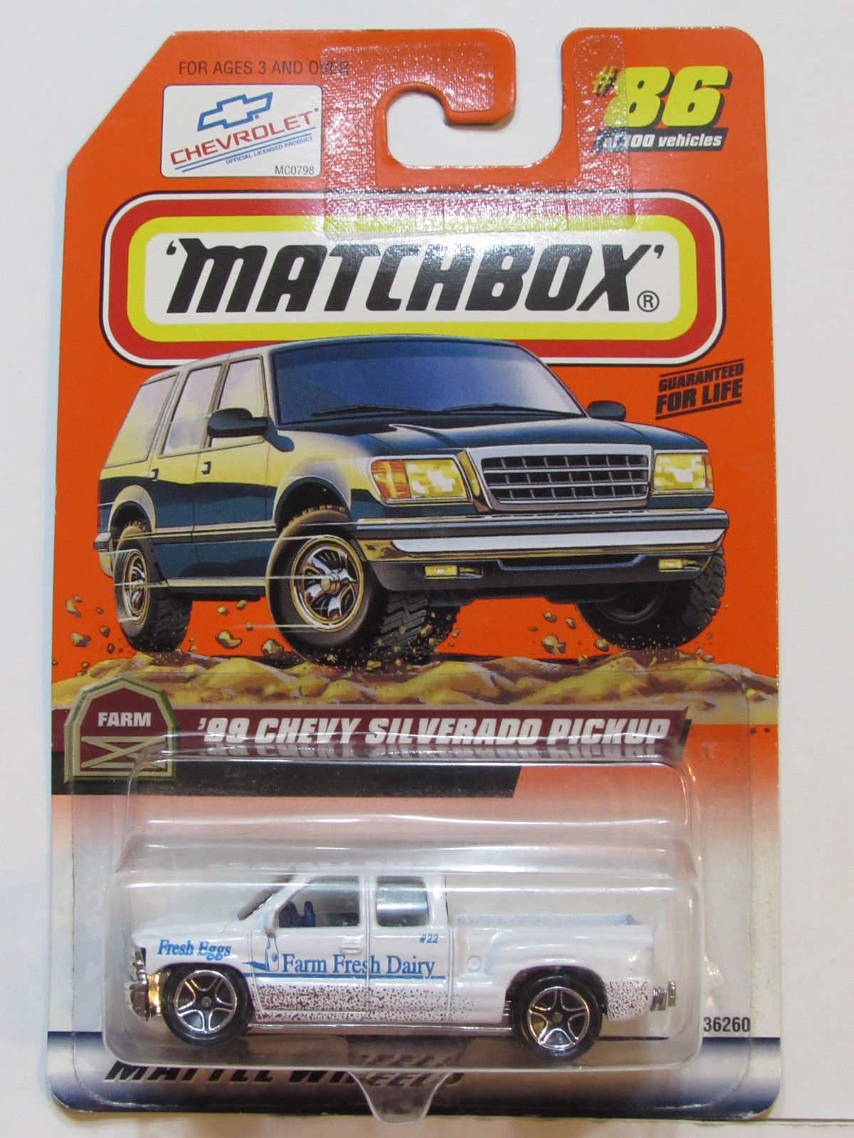 MATCHBOX 1998 #86 OF 100 '99 CHEVY SILVERADO PICKUP