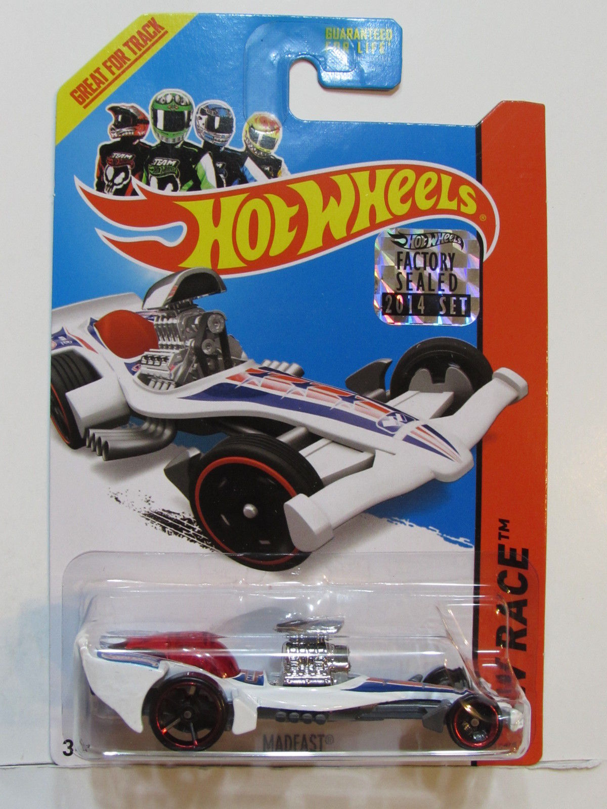 HOT WHEELS 2014 HW RACE MADFAST FACTORY SEALED WHITE