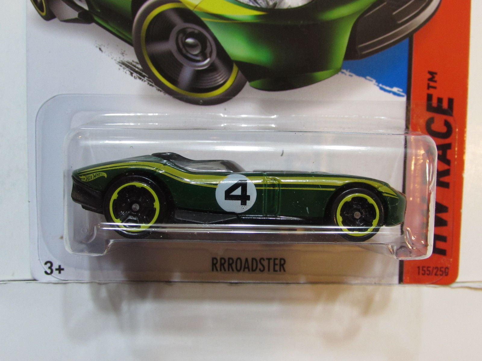 HOT WHEELS 2014 HW RACE RRROADSTER FACTORY SEALED GREEN