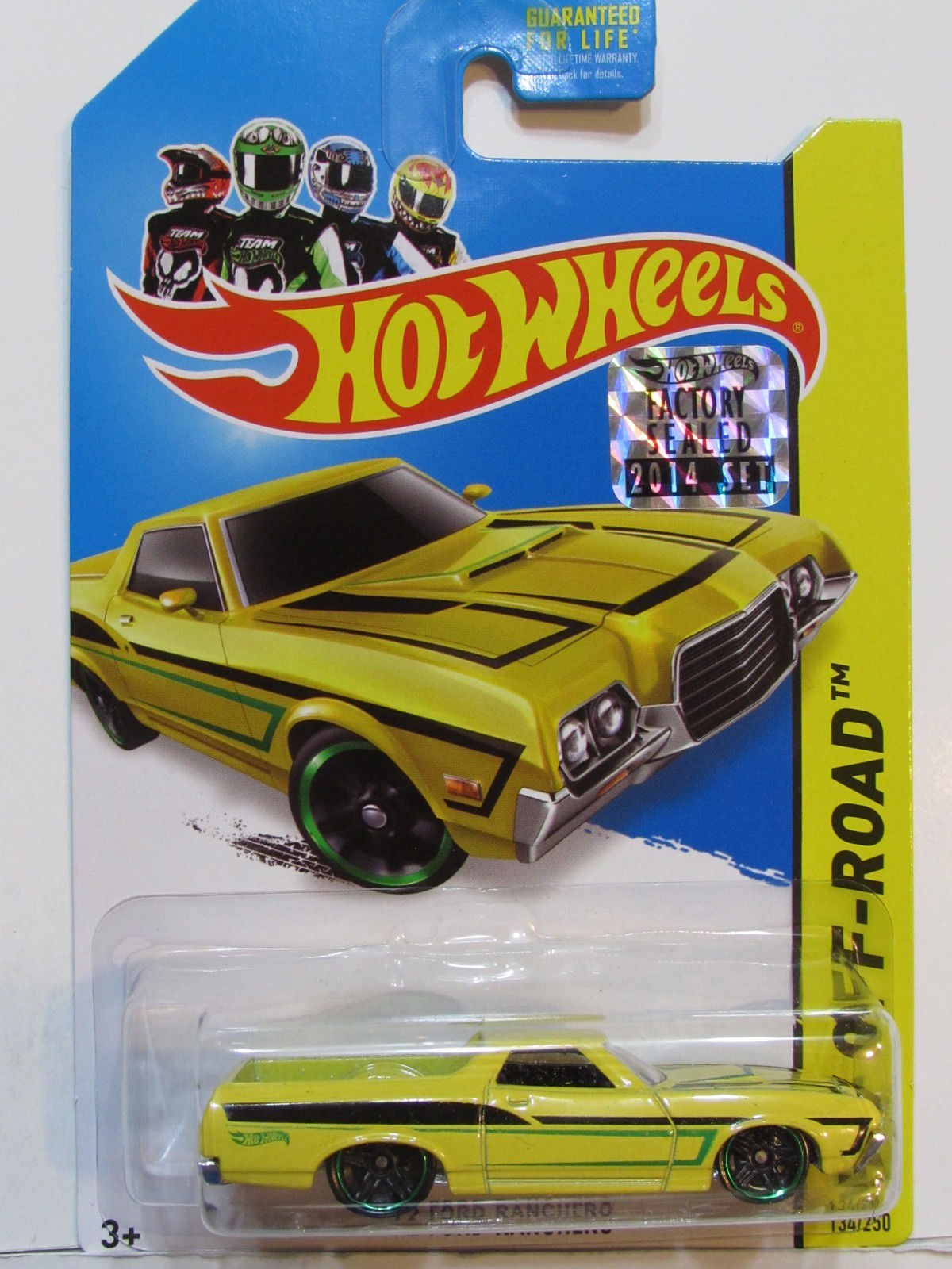 HOT WHEELS 2014 HW RACE '72 FORD RANCHERO FACTORY SEALED YELLOW