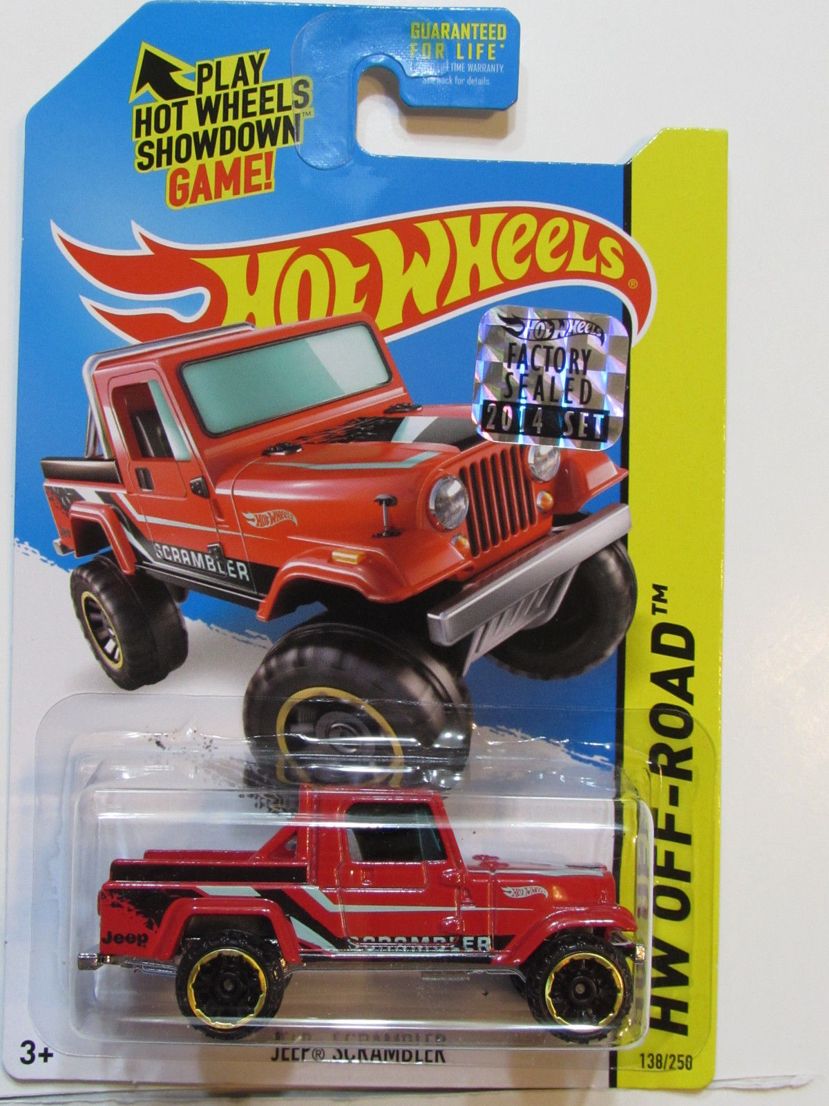 HOT WHEELS 2014 HW OFF - ROAD JEEP SCRAMBLER FACTORY SEALED RED