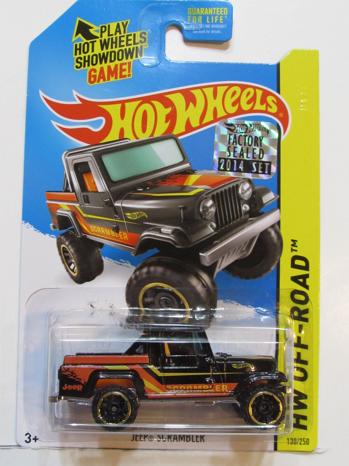 HOT WHEELS 2014 HW OFF - ROAD JEEP SCRAMBLER FACTORY SEALED