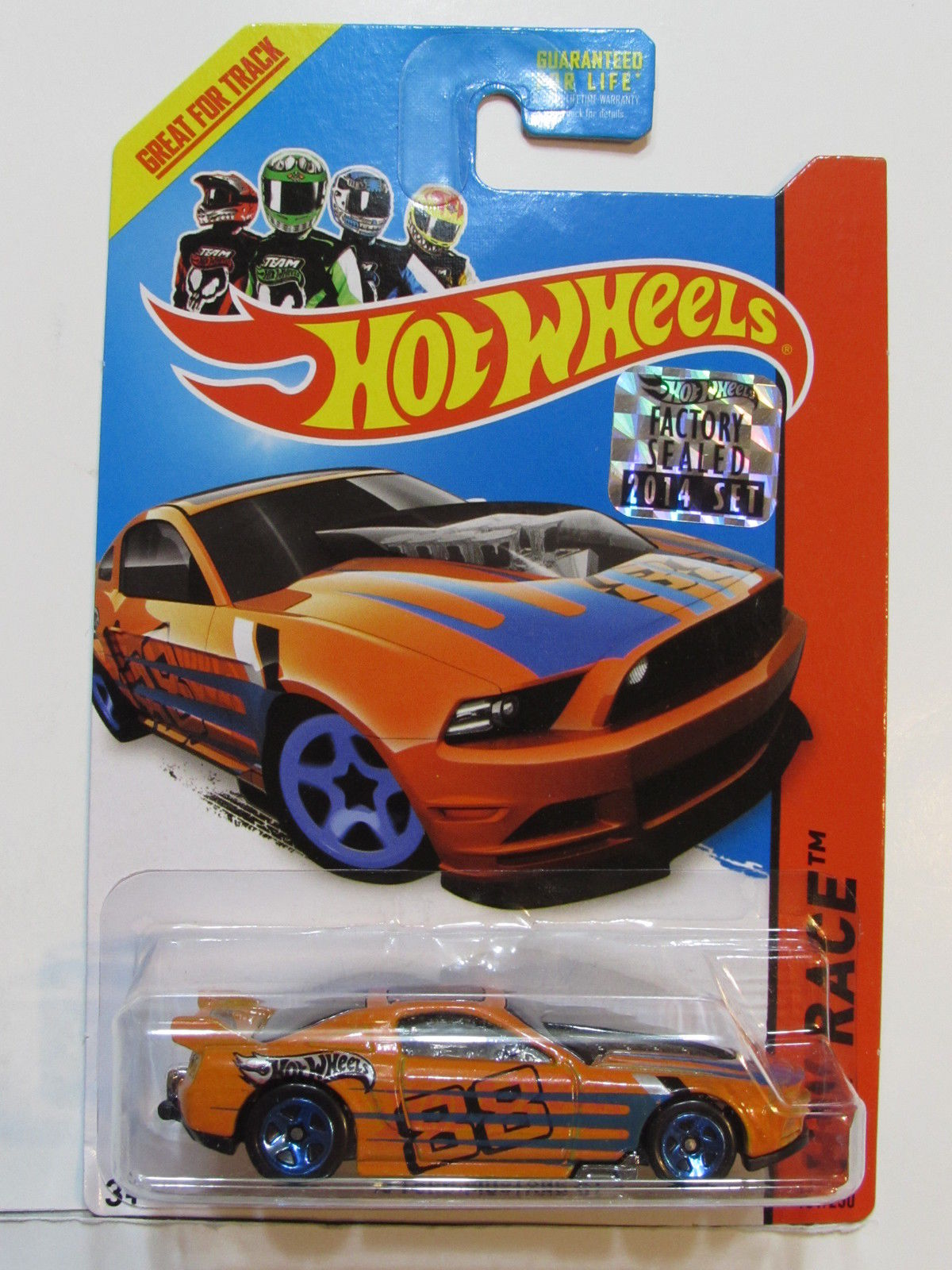 HOT WHEELS 2014 HW RACE '13 FORD MUSTANG GT FACTORY SEALED ORANGE