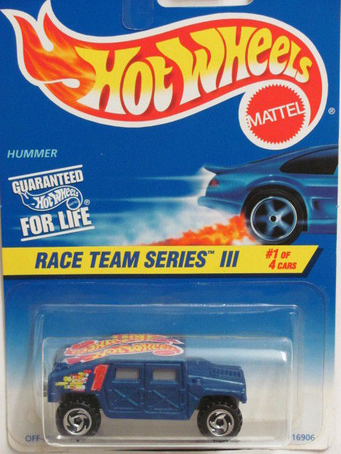HOT WHEELS 1996 RACE TEAM SERIES III #01/04 HUMMER BLUE