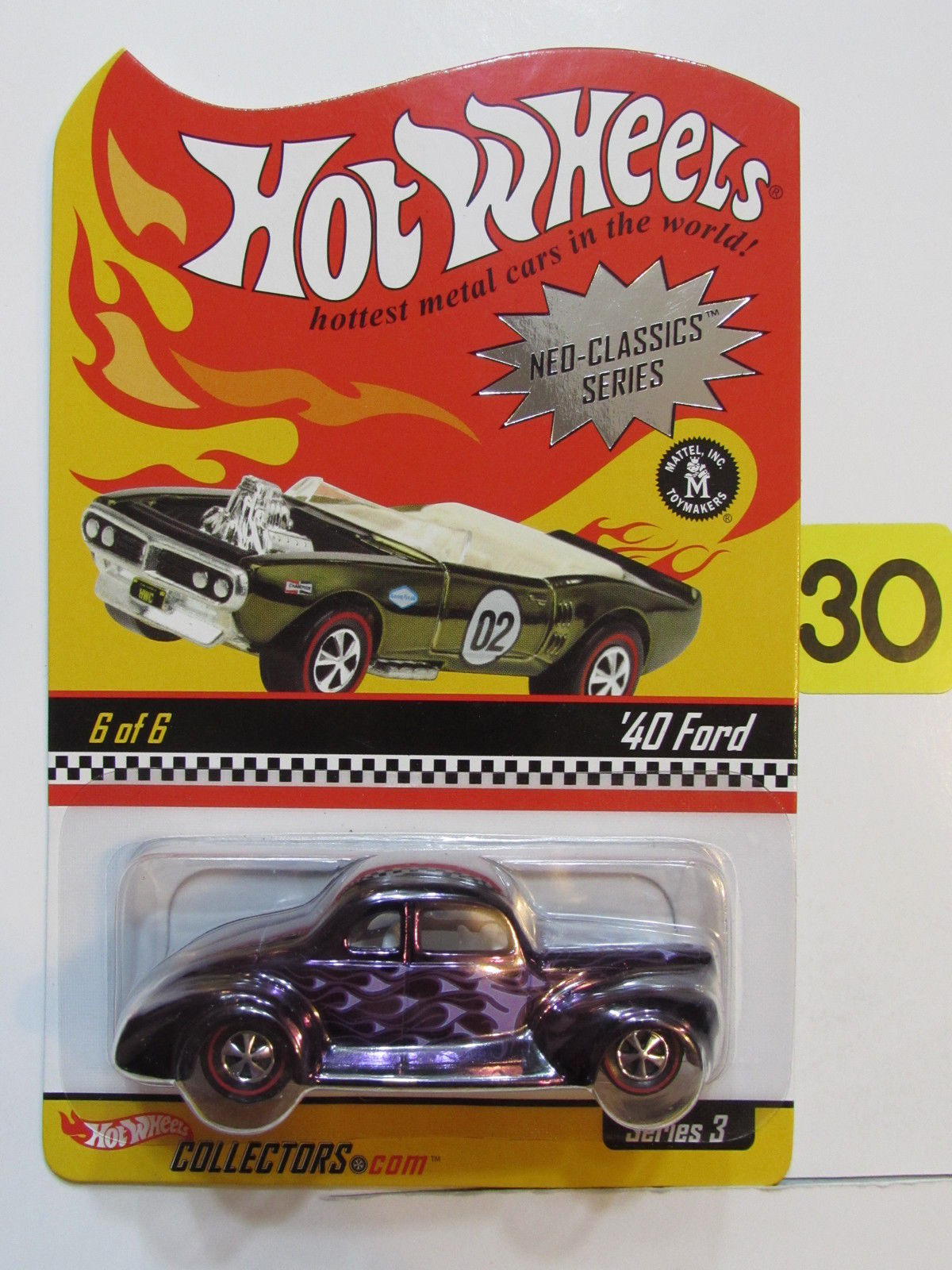 HOT WHEELS 2003 NEO-CLASSICS SERIES #6/6 SERIES 3 - '40 FORD