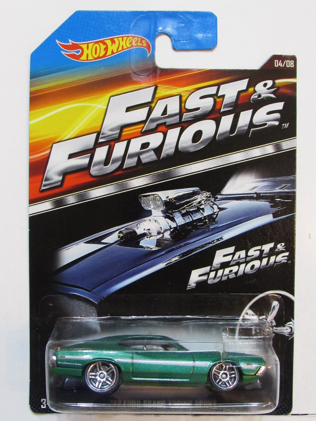 HOT WHEELS 2015 FAST & FURIOUS #04/08 '72 FORD GRAND TORINO SPORT