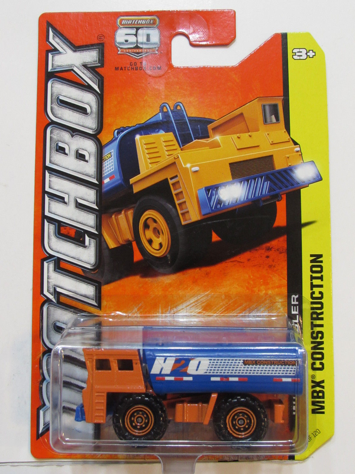 MATCHBOX 2012 MBX CONSTRUCTION WATER HAULER BLUE