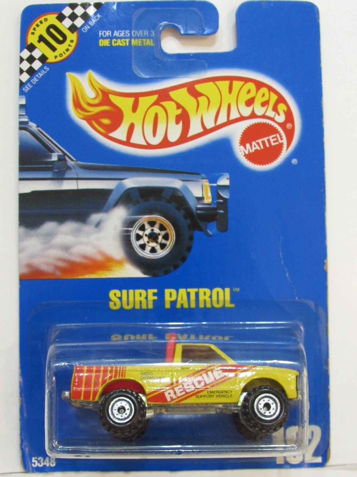 HOT WHEELS 1990 BLUE CARD SURF PATROL #102