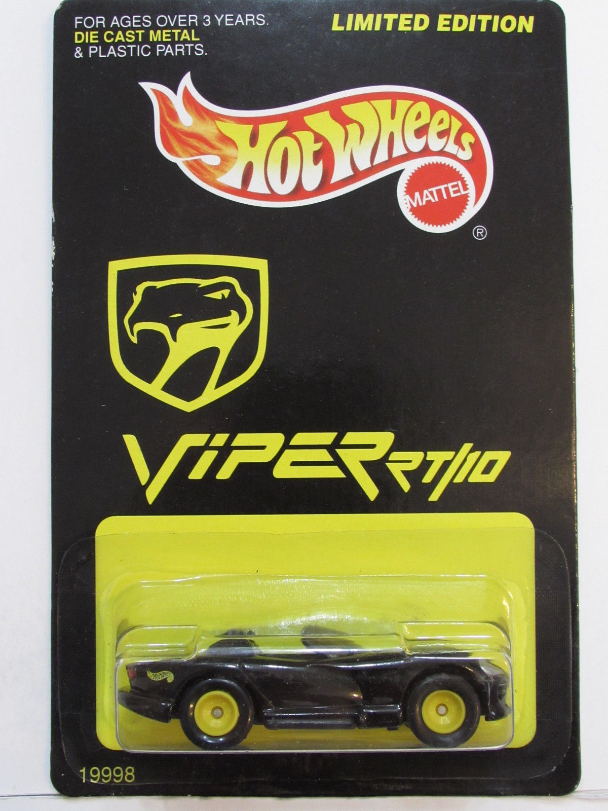 HOT WHEELS 1997 LIMITED EDITION DODGE VIPER RT/10