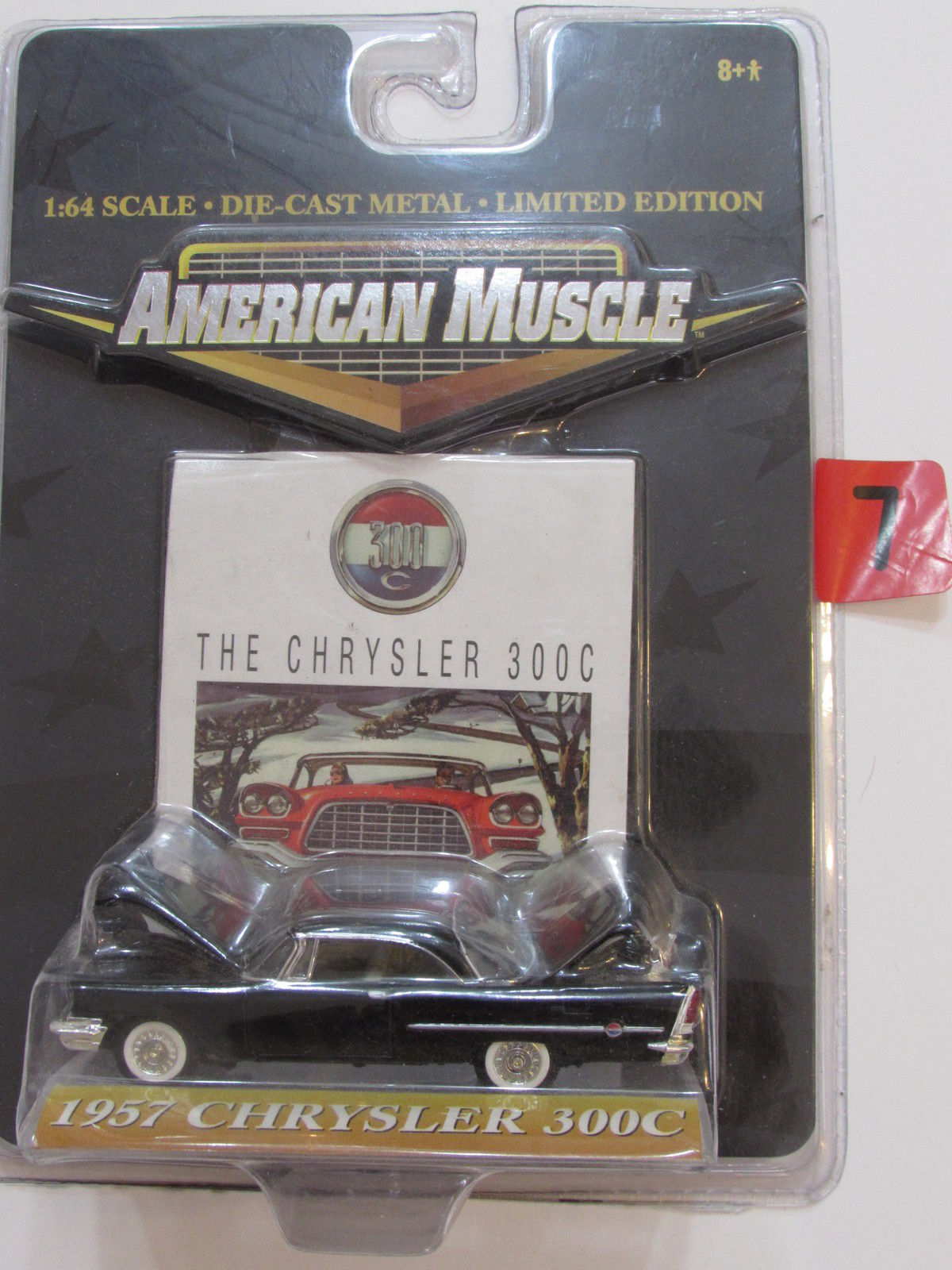 AMERICAN MUSCLE 1:64 SCALE THE CHRYSLER 300C - 1957 CHRYSLER 300C BLACK