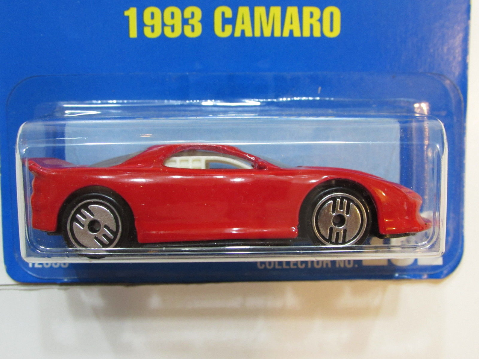 HOT WHEELS 1991 BLUE CARD CAMARO #262 RED W/ WHITE INTERIOR