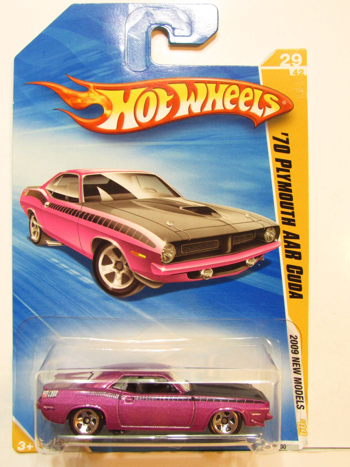 HOT WHEELS 2009 NEW MODELS '70 PLYMOUTH AAR CUDA