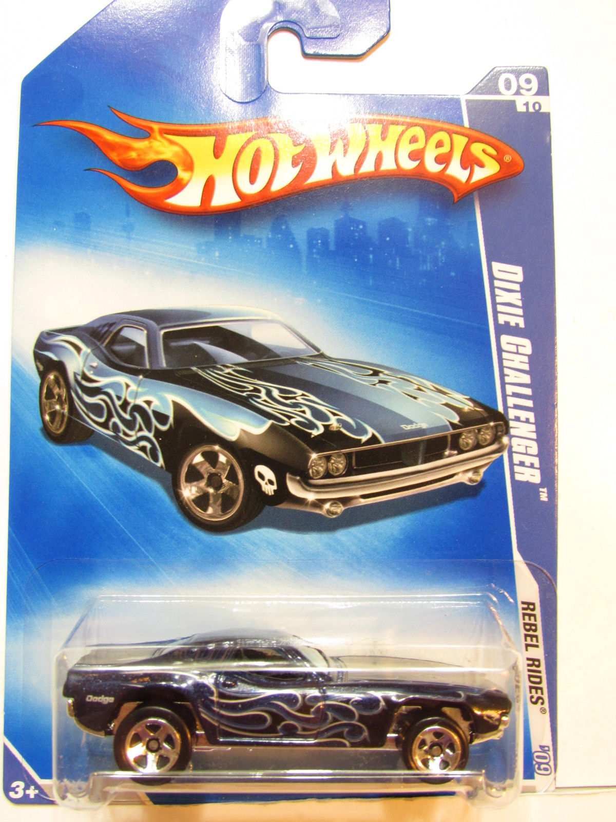 HOT WHEELS 2009 REBEL RIDES DIXIE CHALLENGER #09/10 BLUE