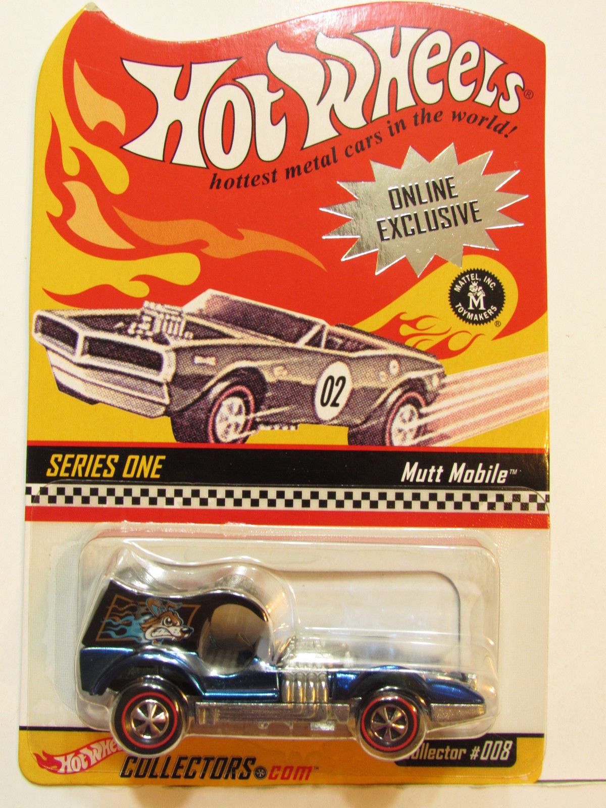 HOT WHEELS 2001 ONLINE EXCLUSIVE SERIES ONE COLLECTOR #008 MUTT MOBILE