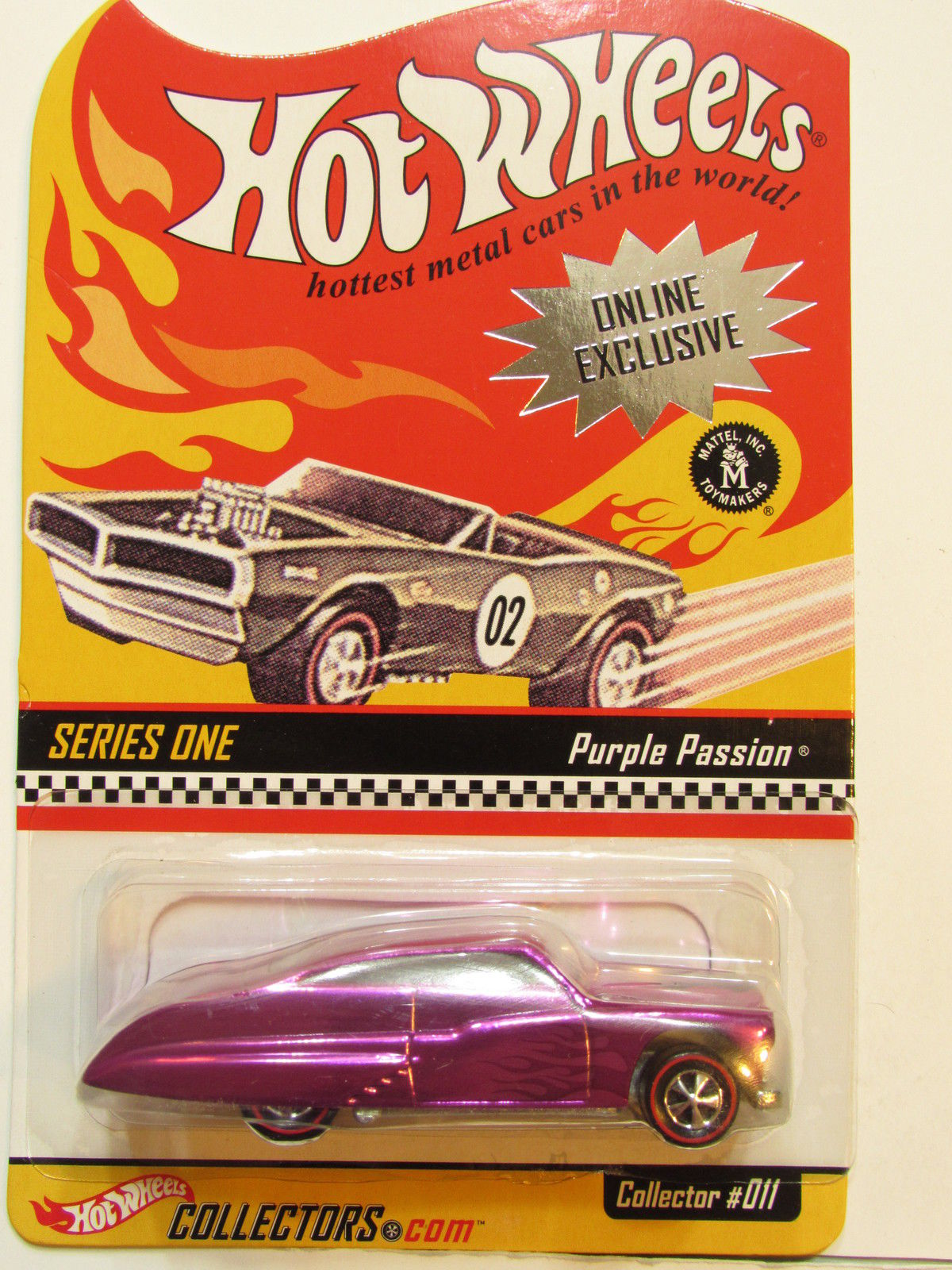 HOT WHEELS 2001 ONLINE EXCLUSIVE SERIES ONE COLLECTOR #011 PURPLE PASSION