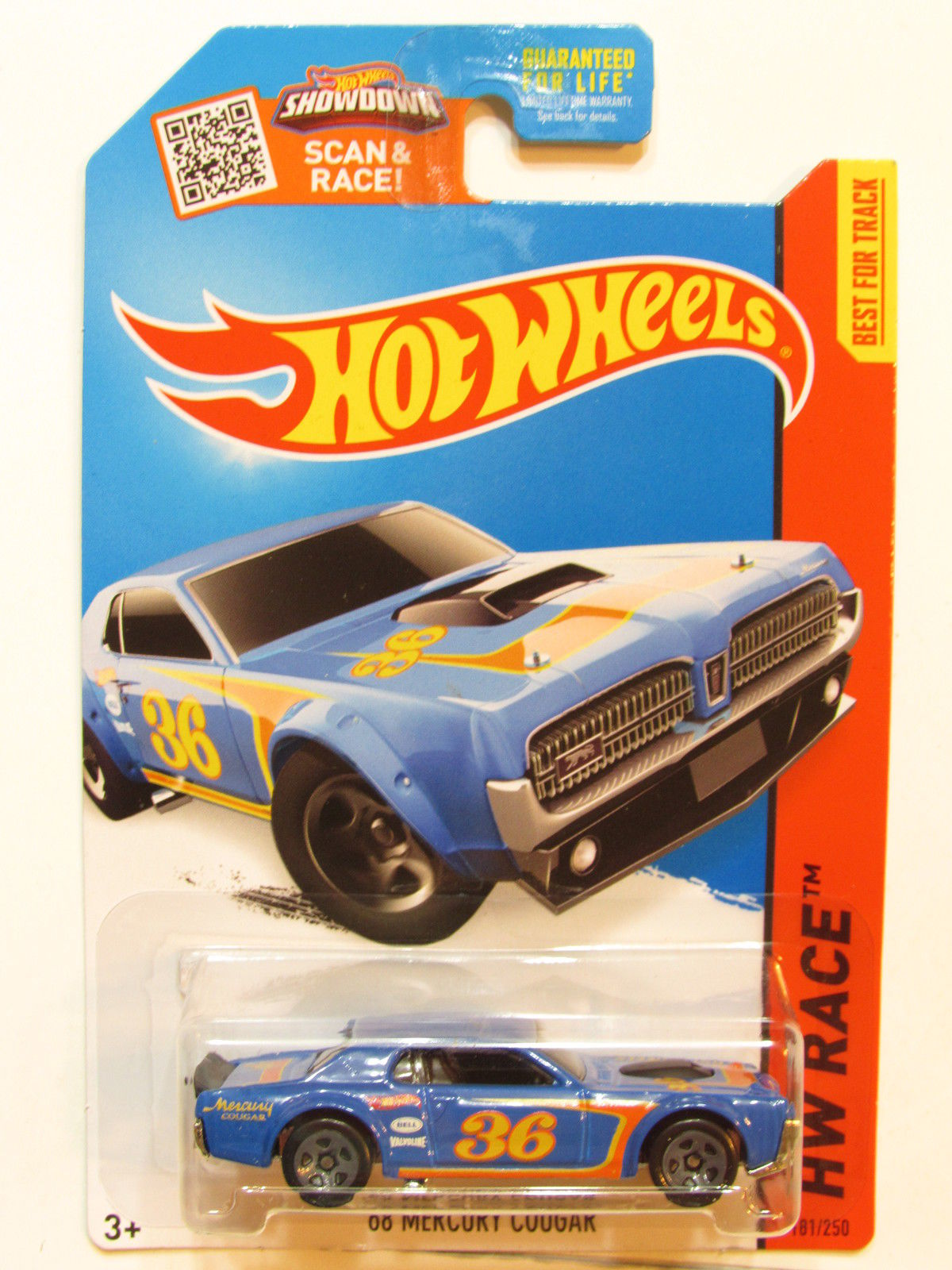 HOT WHEELS 2015 HW RACE - TRACK ACES '68 MERCURY COUGAR