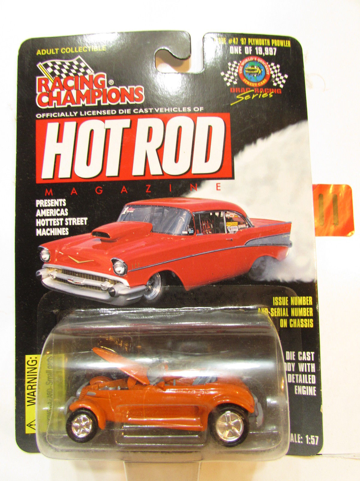 RACING CHAMPIONS HOT ROD ISSUE #47 - '97 PLYMOUTH PROWLER 1:57 SCALE