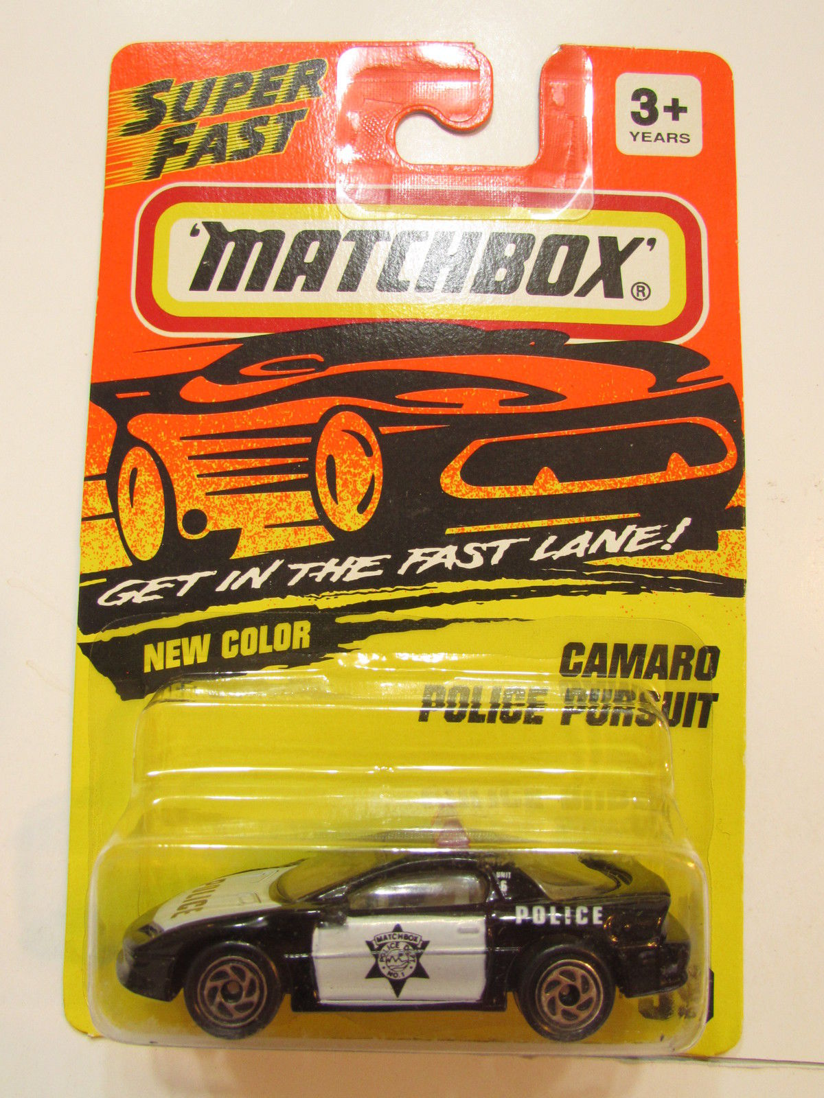 MATCHBOX 1994 CAMARO POLICE PURSUIT #59 BLACK