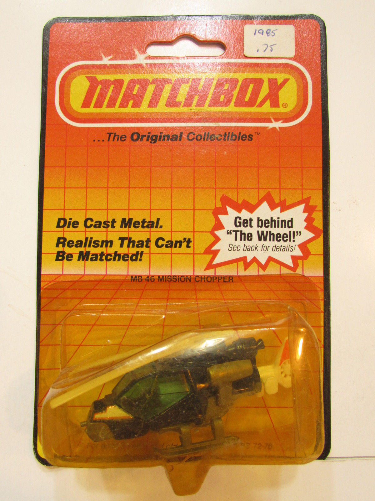 MATCHBOX 1983 GET BEHIND THE WHEELS MISSION CHOPPER