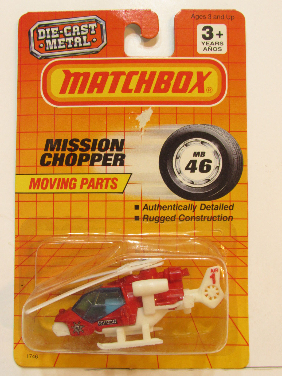 MATCHBOX 1990 MOVING PARTS MISSION CHOPPER