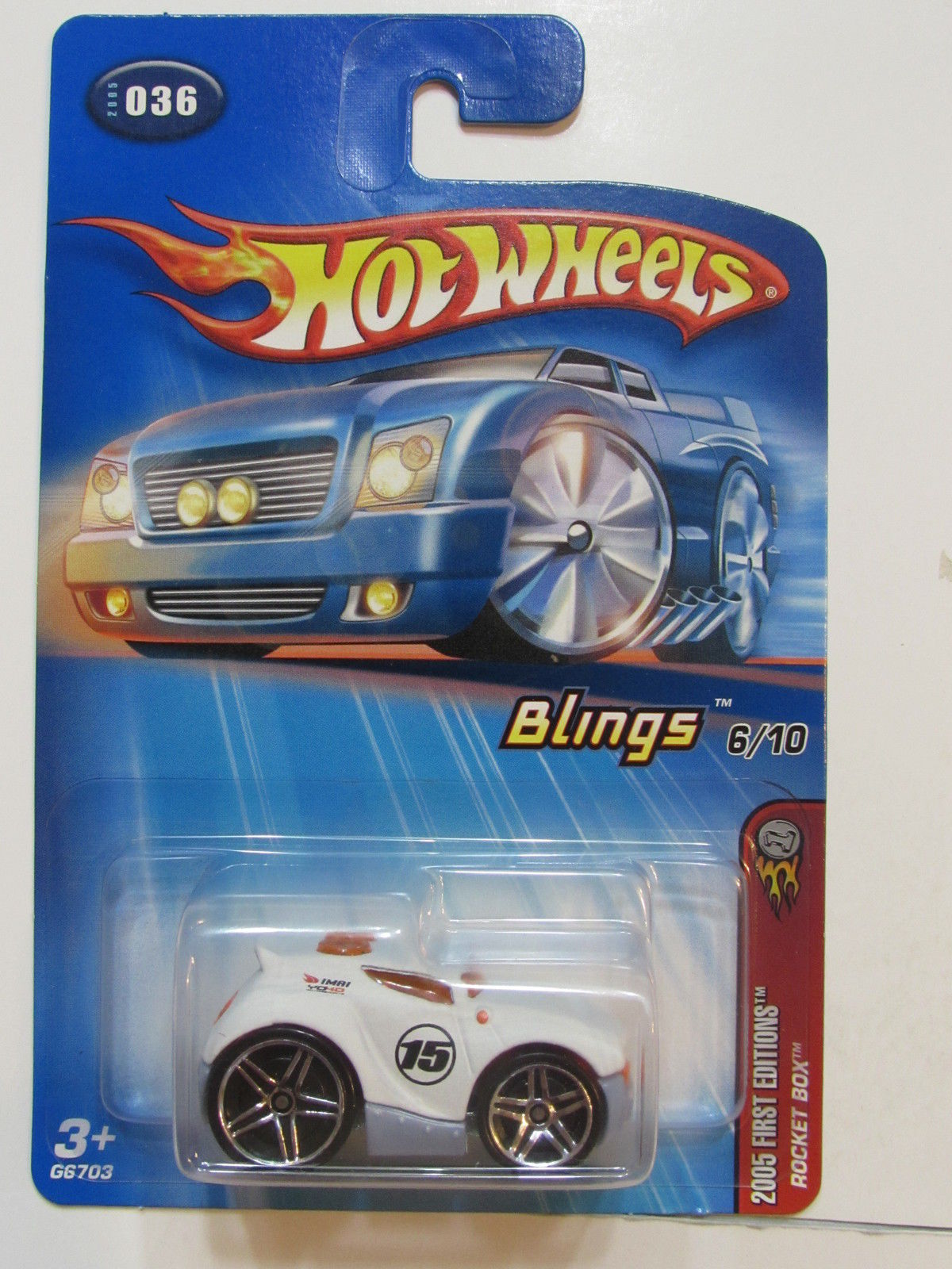 HOT WHEELS 2005 FIRST EDITIONS #6/10 BLINGS ROCKET BOX - ERROR