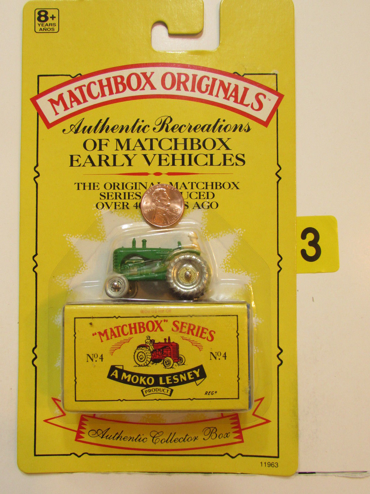 MATCHBOX 1991 ORIGINALS NO.04 THE MASSEY HARRIS TRACTOR - AMOKO LESNEY AUTHENTIC