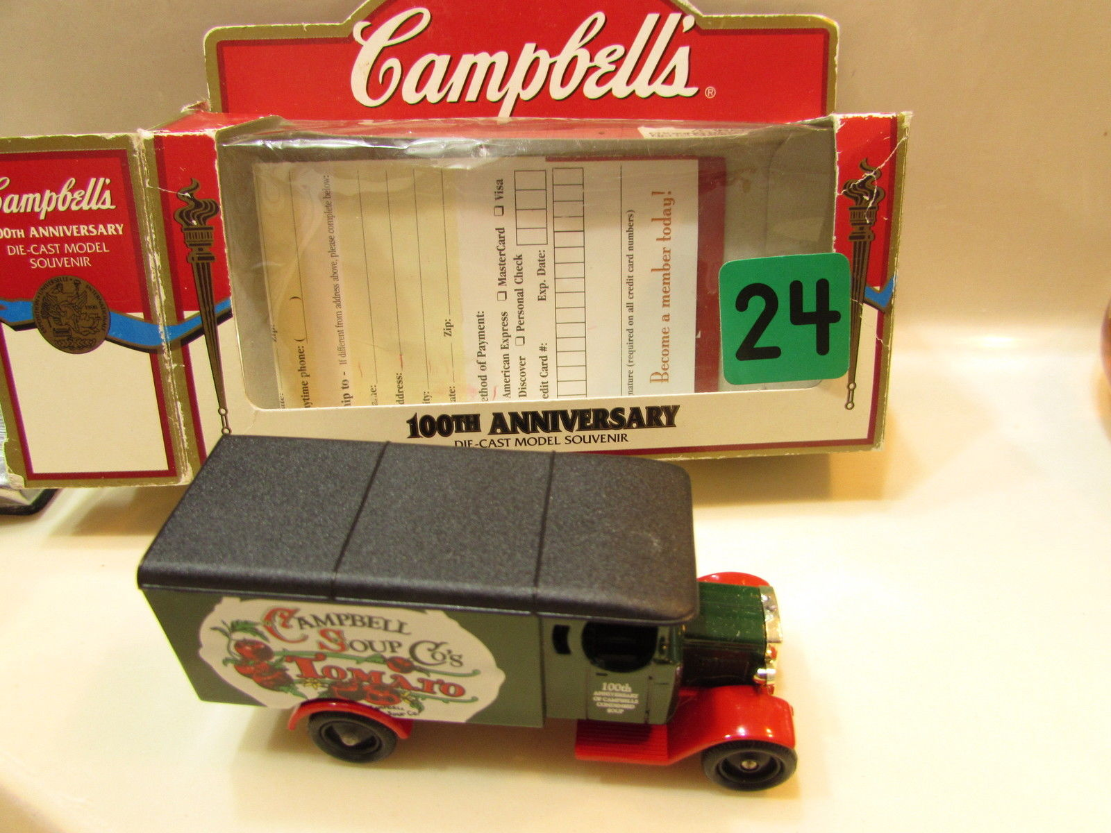 CAMPBELLS 100TH ANNIVERSARY DIE CAST MODEL SOUVENIR SOUP TRUCK