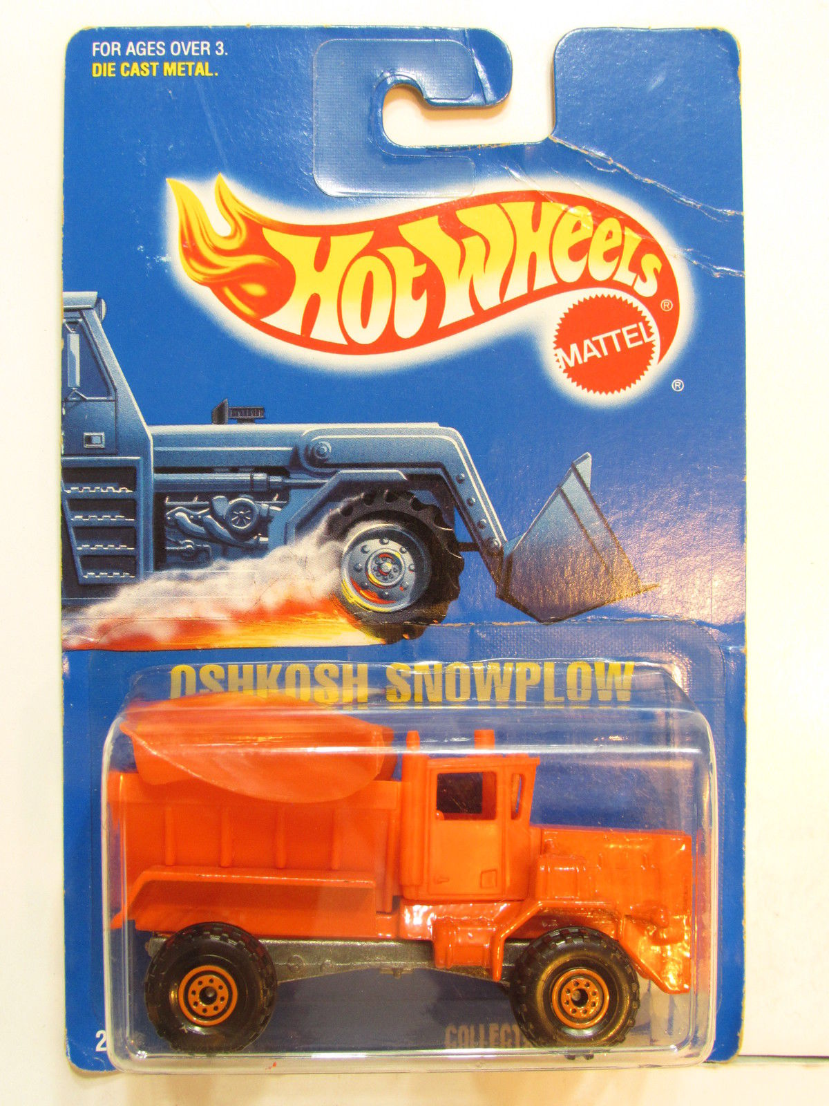HOT WHEELS 1991 OSHKOSH SNOWPLOW # 201 ORANGE