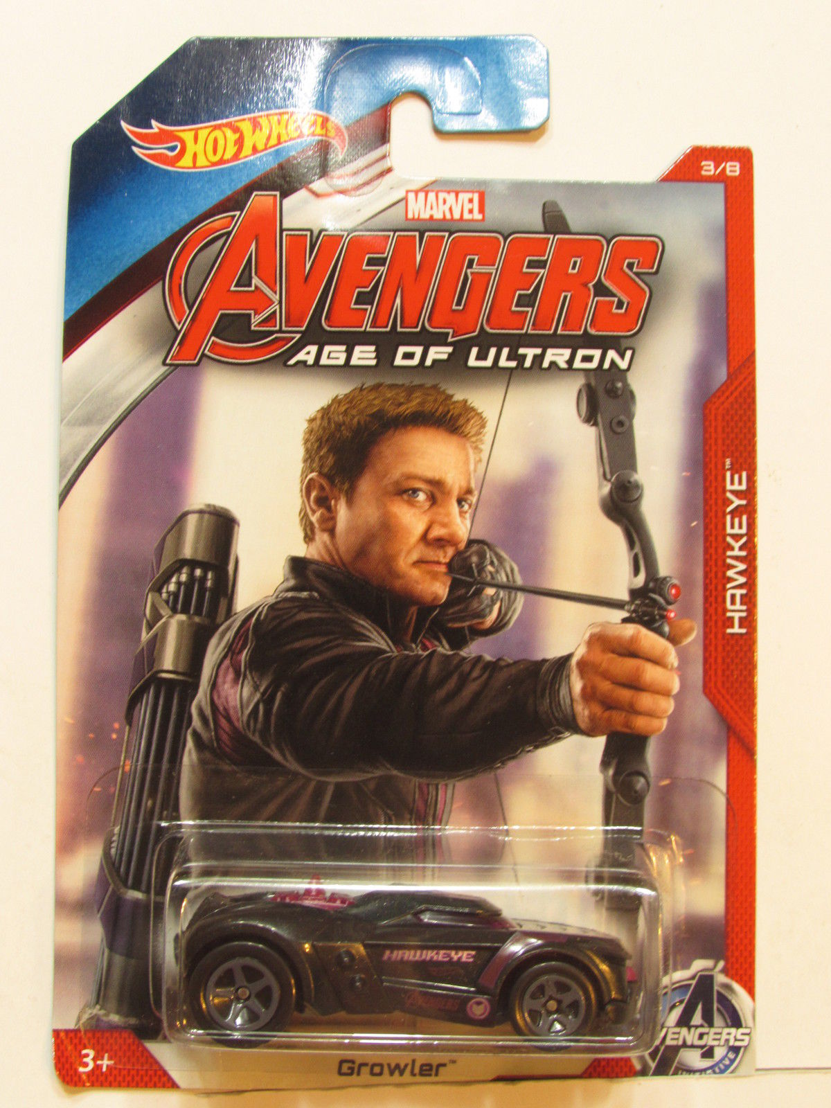 HOT WHEELS 2014 MARVEL AVENGERS AGE OF ULTRON HAWKEYE - GROWLER