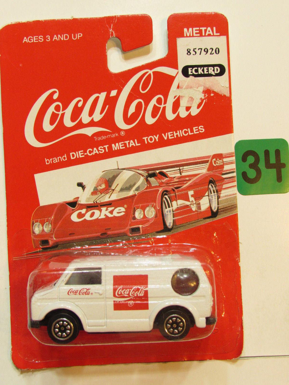 COCA COLA DIE CAST METAL TOY VEHICLES DELIVERY VAN WHITE