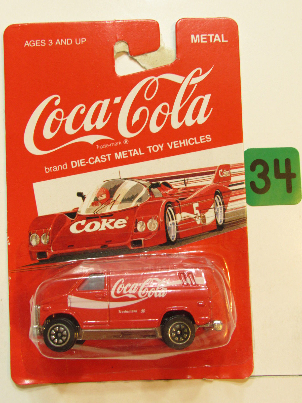 COCA COLA DIE CAST METAL TOY VEHICLES DELIVERY VAN RED