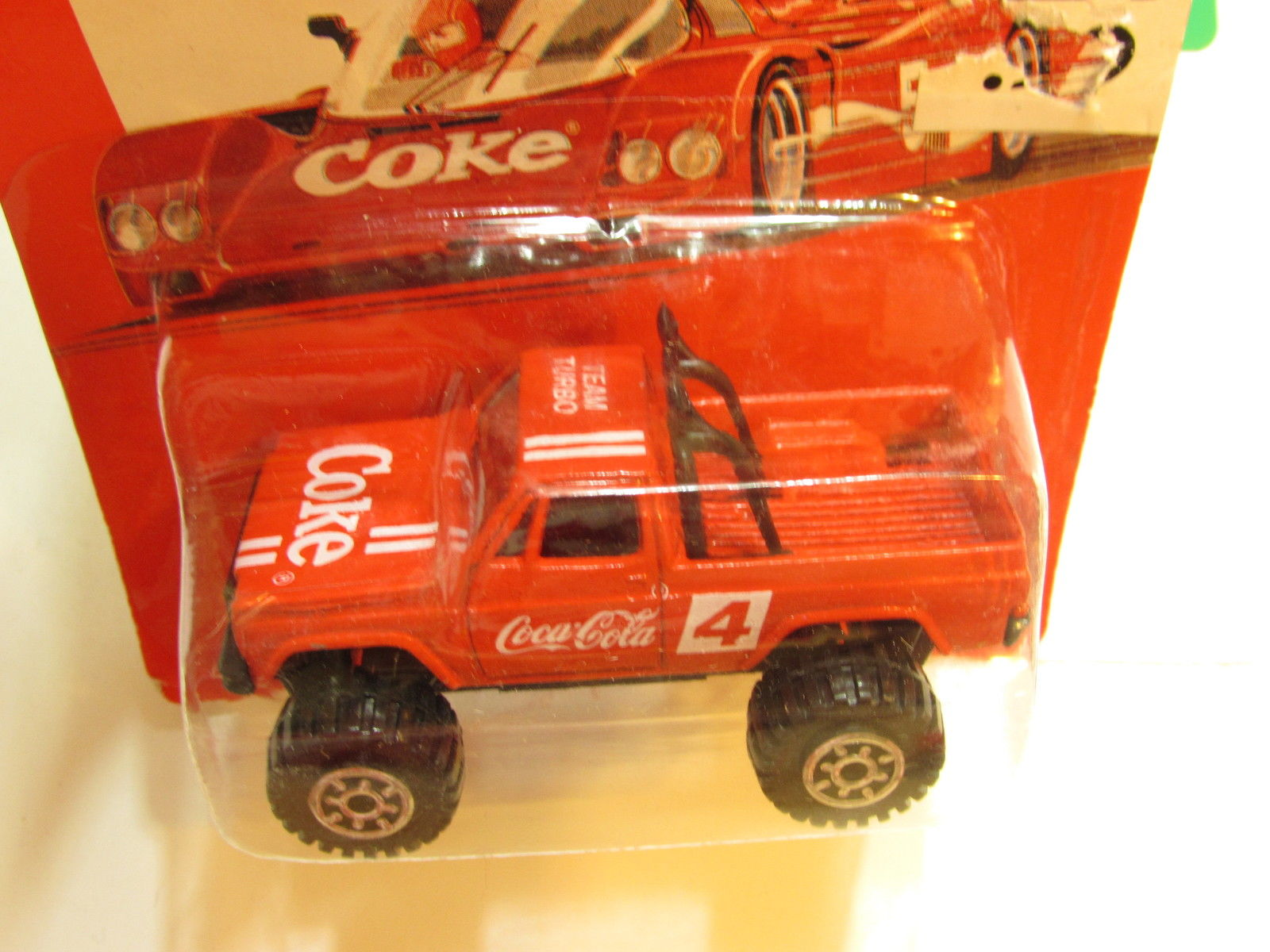 COCA COLA DIE CAST METAL TOY VEHICLES 4X4 TRUCK RED