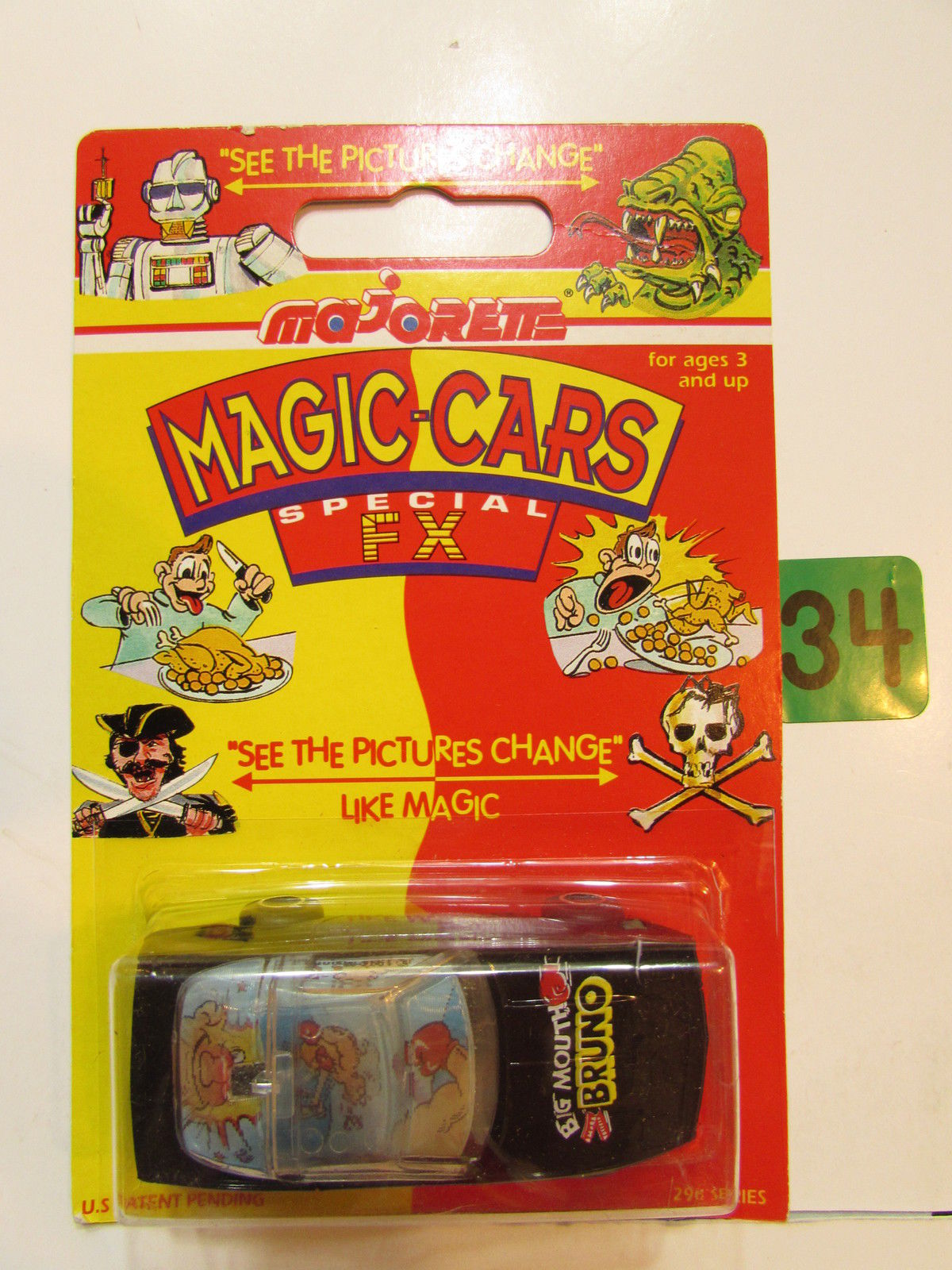 MAJORETTE MAGIC CARS SPECIAL FX BIG MOUTH BRUNO - CORVETTEMAJORETTE MAGIC CARS SPECIAL FX BIG MOUTH BRUNO - CORVETTE E+