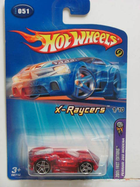 HOT WHEELS 2005 FIRST EDITIONS X-RAYCERS FERRARI 360 MODENA RED