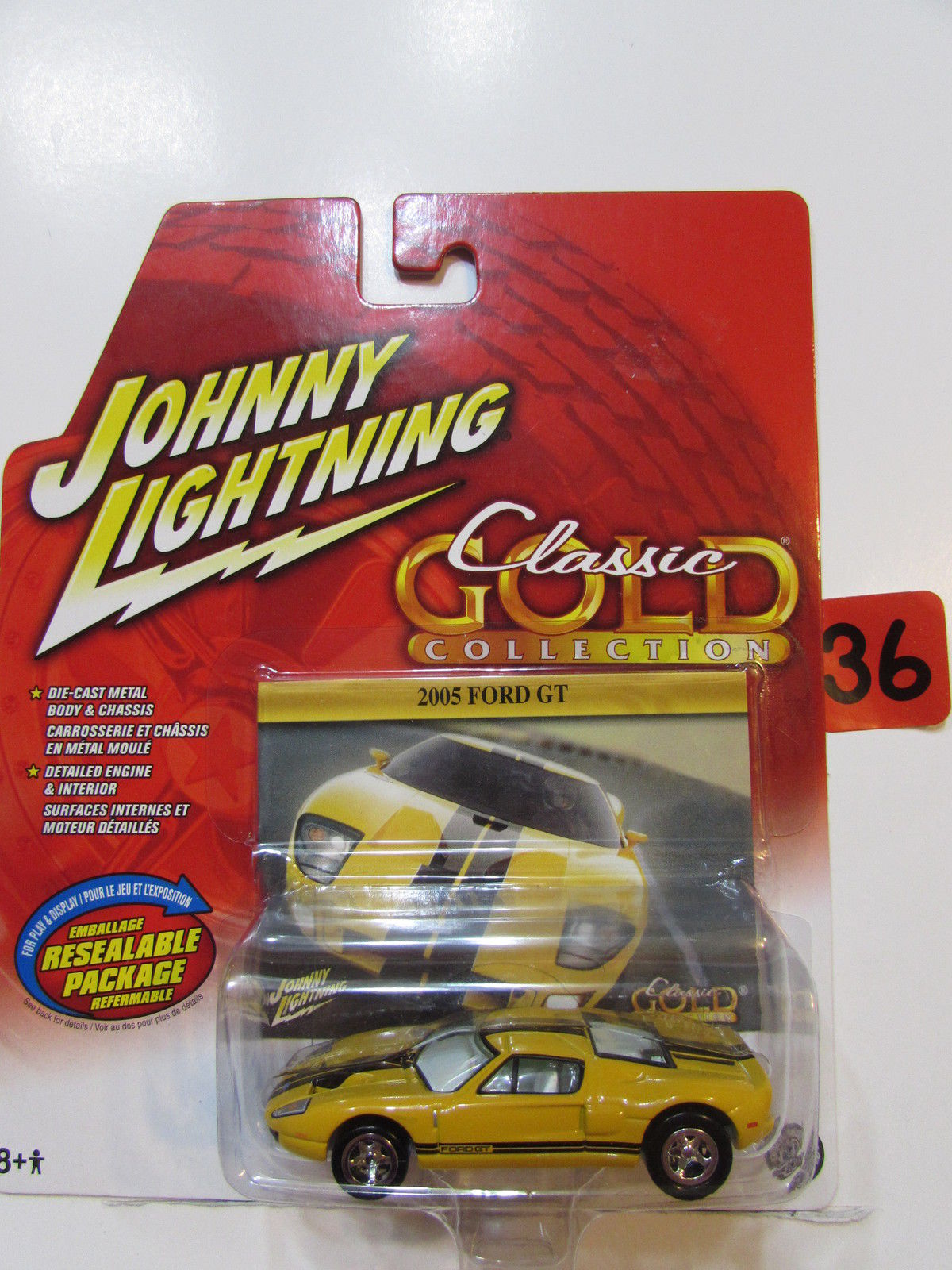 JOHNNY LIGHTNING 2005 CLASIC GOLD COLLECTION 2005 FORD GT WHITE LIGHTNING