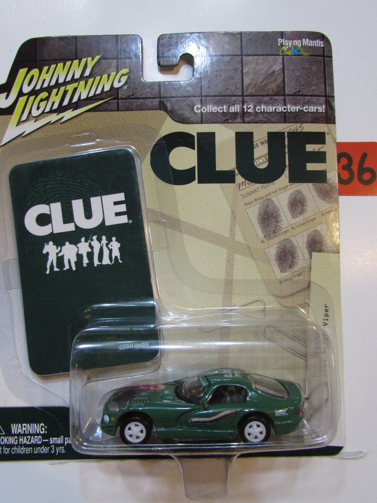 JOHNNY LIGHTNING 2004 CLUE 1999 DODGE VIPER WHITE LIGHTNING