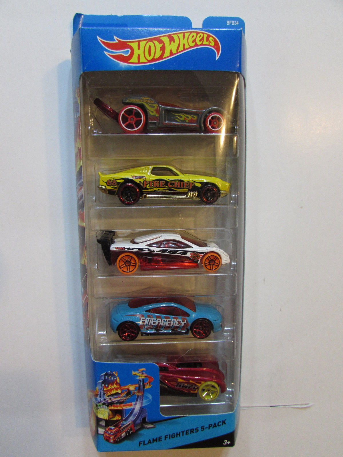 2014 HOT WHEELS FLAME FIGHTERS CITY - BRUISERS - MASSA - PROTOTYPE - 5 CAR PACK
