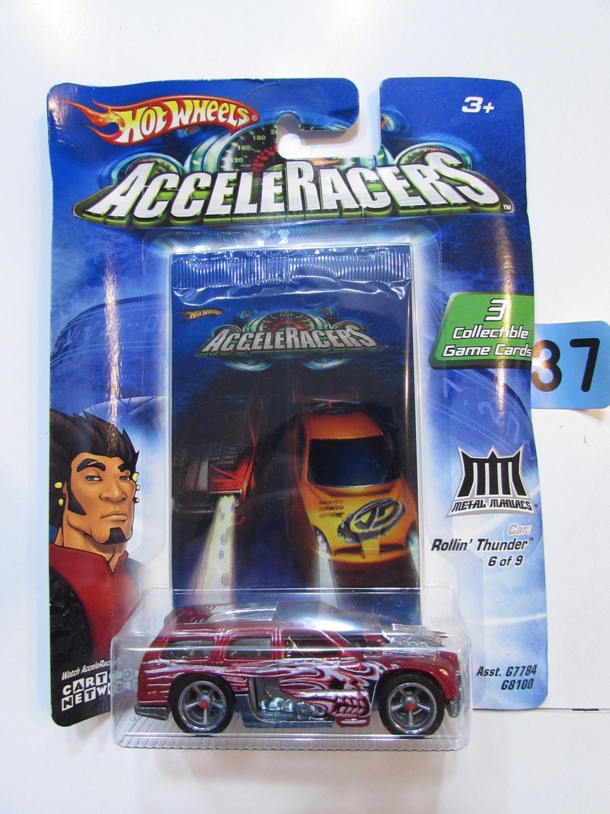 2004 HOT WHEELS ACCELERACERS ROLLIN' THUNDER #6/9 - 3 COLLECTIBLE GAME CARDS