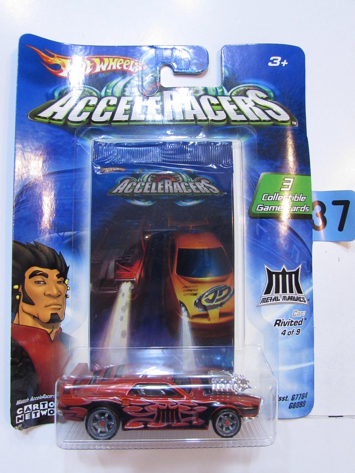2004 HOT WHEELS ACCELERACERS RIVITED #4/9 - 3 COLLECTIBLE GAME CARDS
