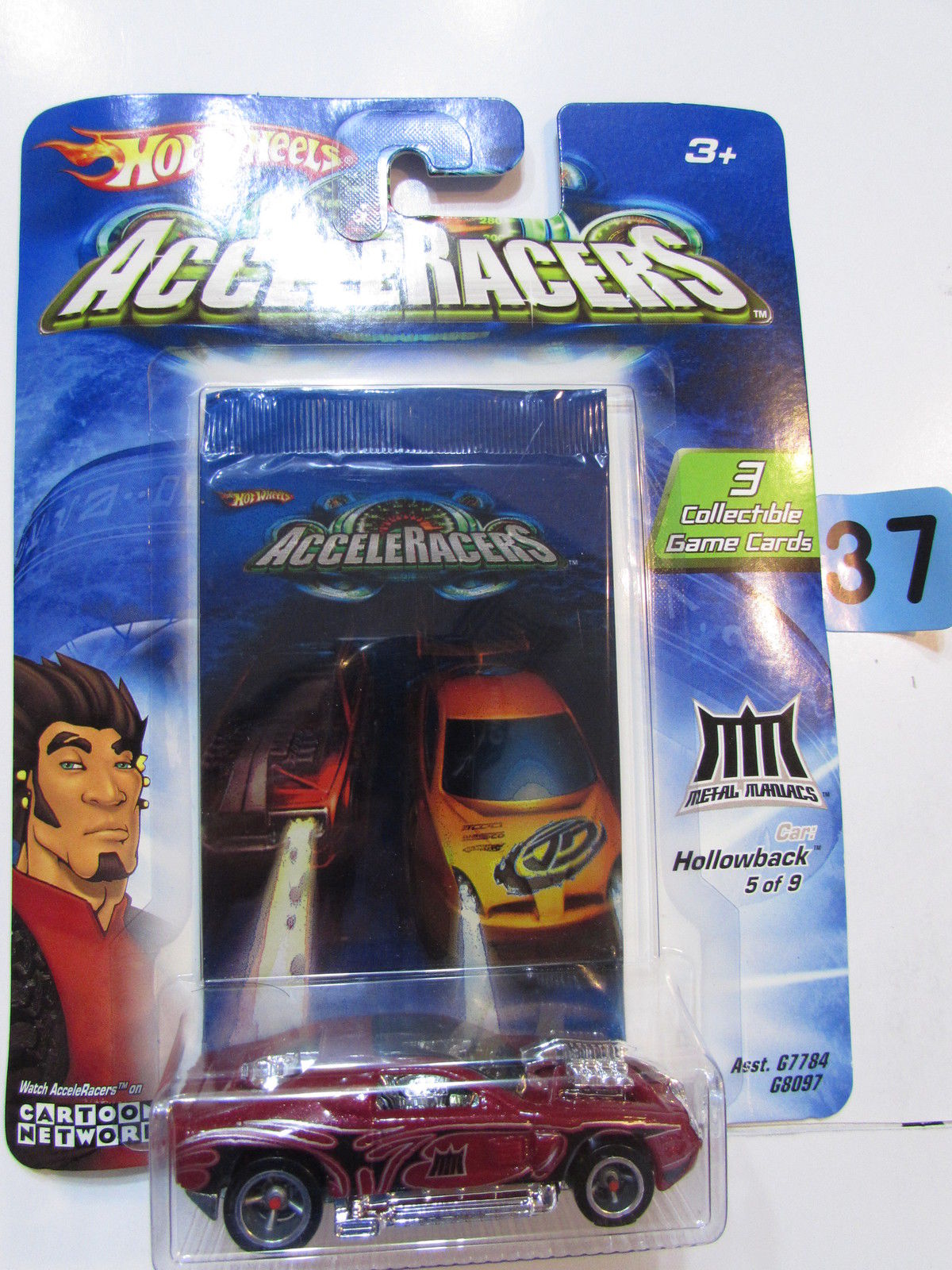 2004 HOT WHEELS ACCELERACERS HOLLOWBACK #5/9 - 3 COLLECTIBLE GAME CARDS