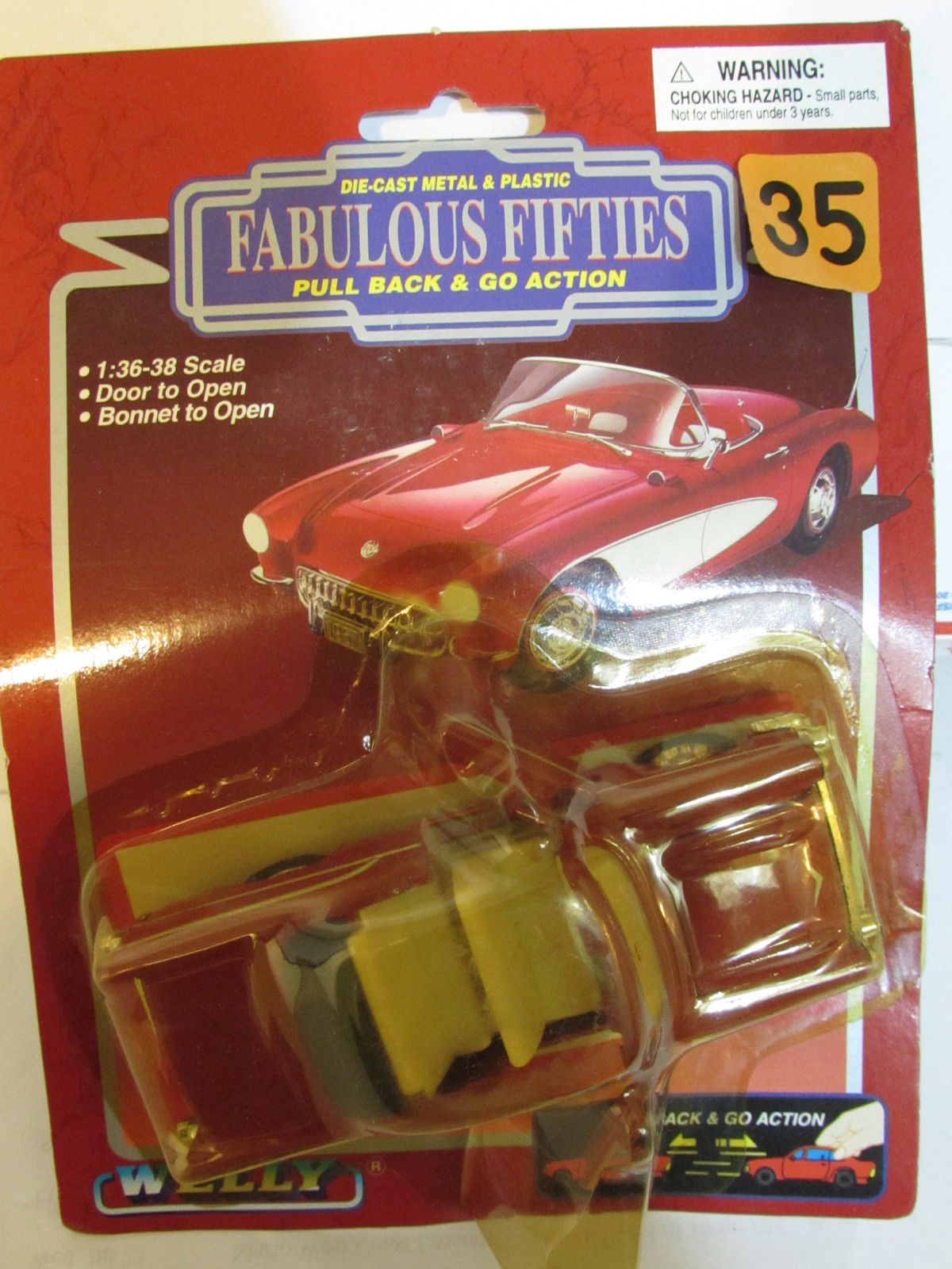 FABULOUS FIFTIES DIE CAST METAL & PLASTIC - PULL BACK & GO ACTION