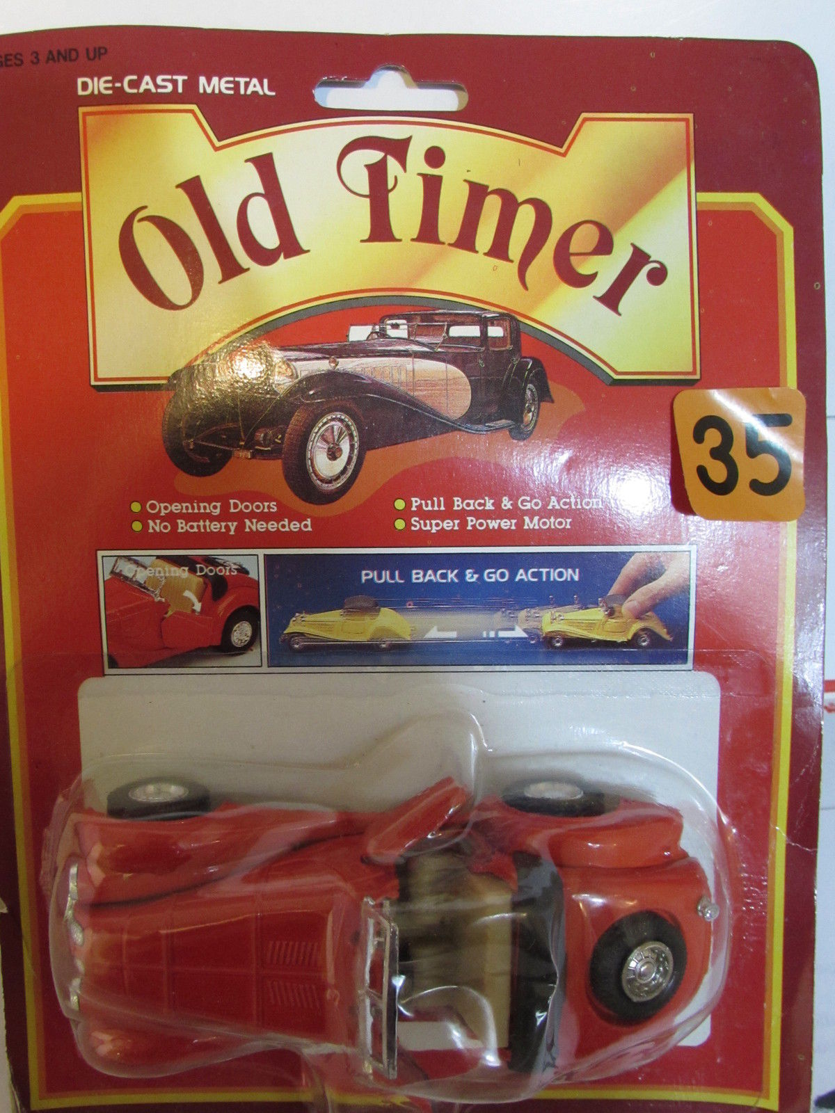 OLD TIMER DIE CAST METAL - PULL BACK & GO ACTION