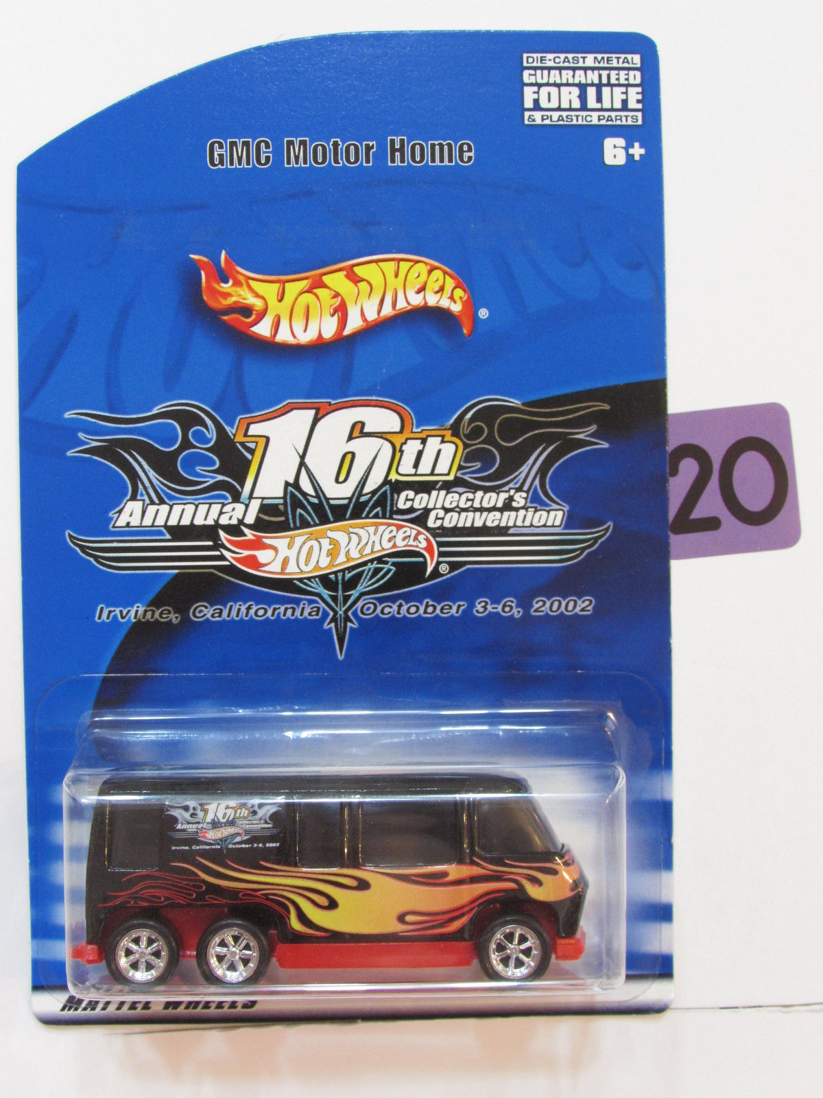 HOT WHEELS 16TH ANNUAL CONVENTION IRVINE 2002 GMC MOTOR HOME