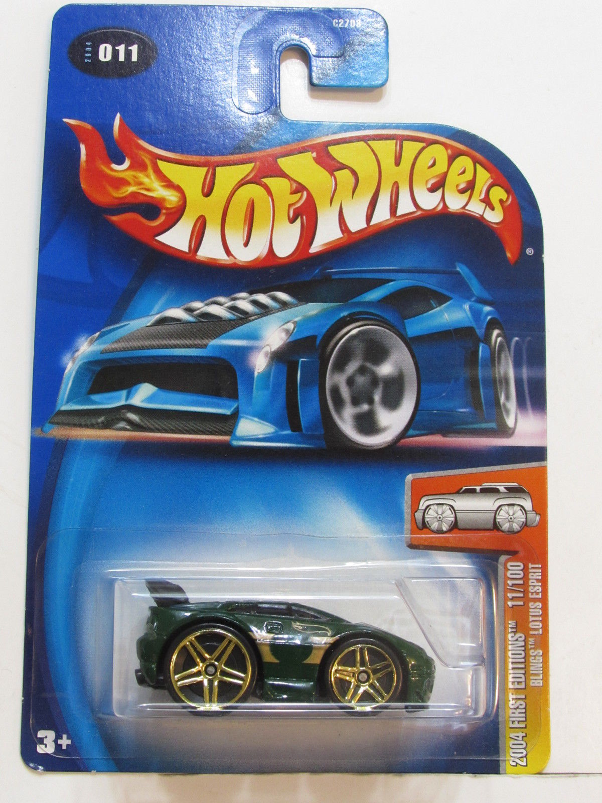 HOT WHEELS 2004 FIRST EDITIONS BLINGS LOTUS ESPRIT #011 - TAMPO ERROR